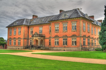 seventeenth: An HDR image of the seventeenth century stately home Tredegar House is a first class example of a red brick mansion
