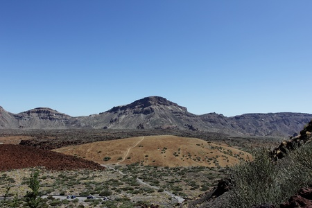 The outer caldera forming the main plateau in the Teide national park. The conical volcano El Tride spain photo