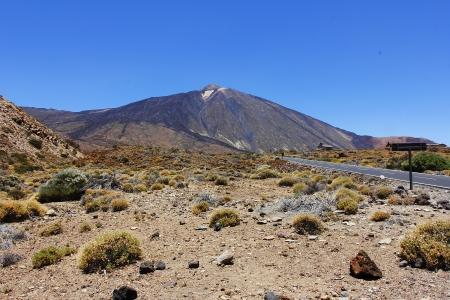 The conical volcano Mount Teide or El Teide in Tenerife is Spains highest mountain photo