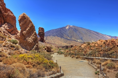 Roques Garcia and Mount Teide photo