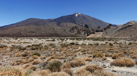 Panoramic image of the conical volcano Mount Teide or El Teide in Tenerife photo