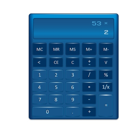A generic electronic calculator Stock Vector - 15914307
