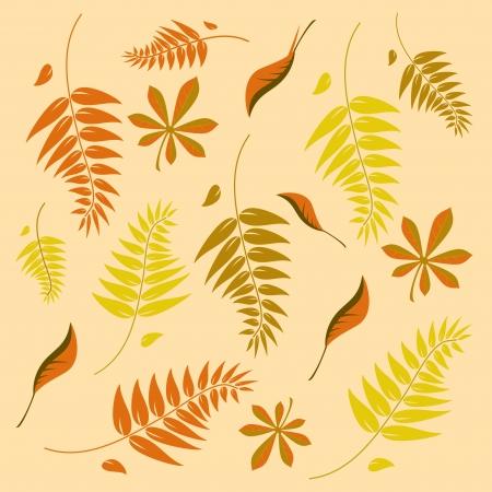 unendlich: Eine nahtlose Herbst Hintergrund mit unterschiedlich geformten Bl�tter in verschiedenen Herbst Braunt�ne. L�sst sich stufenlos gefliesten in alle Richtungen