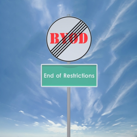 3d signs for end of restrictions branded  BYOD Zdjęcie Seryjne - 19159664
