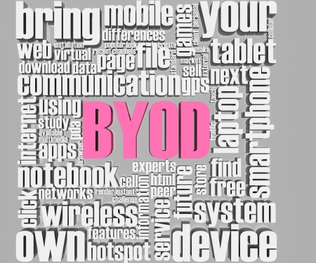 BYOD related words  Part of a series of business concepts Zdjęcie Seryjne - 19159658