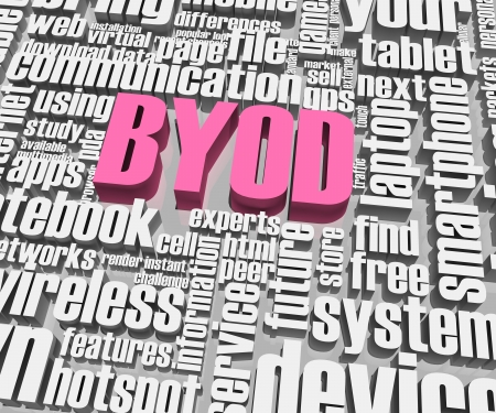 BYOD related words  Part of a series of business concepts  photo