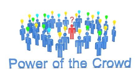 3d render for crowdsourcing concept