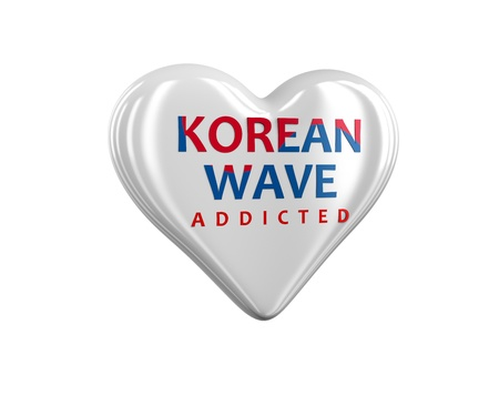 Heart branded korean wave and addicted