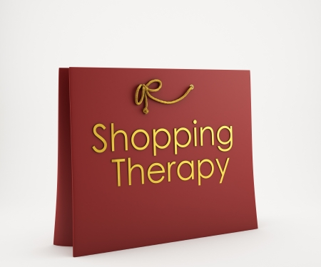 Red Shoping bag with caption