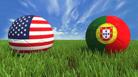 portugal: USA  Portugal Stock Photo