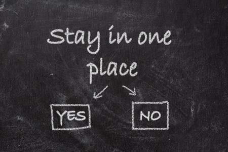 self discovery: Blackboard  Stay In One Place