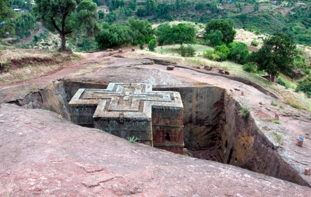 Church of St George, Lalibela, Ethiopia Stock Photo