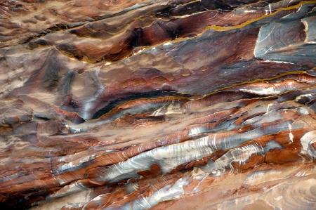stratification: Colorfull sandstone