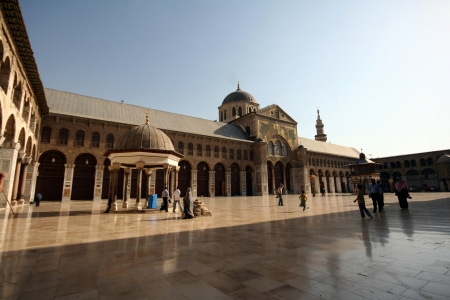 Scenery of the famous Omayyad Mosque in Damascus,Syria