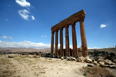baal: Balbek tempel in Lebanon Stock Photo