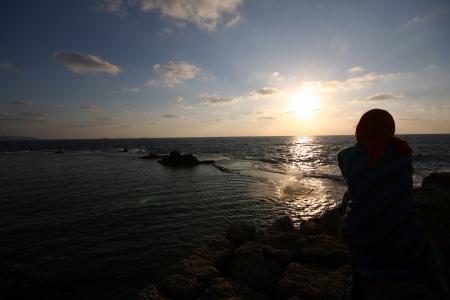 nightfall: African sunset