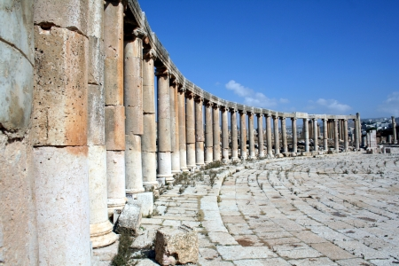 Jerash, ancient Roman city Stock Photo