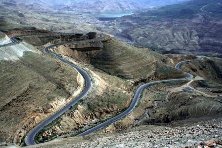wadi: Wadi Mujib in Jordan