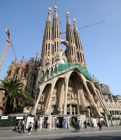 Spain  Barcelona  Sagrada Famiglia Cathedral by Gaudi