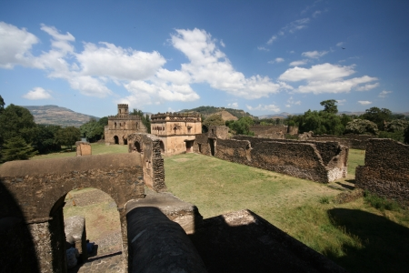 ethiopian: royal ethiopian castle in gonder gondar ethiopia
