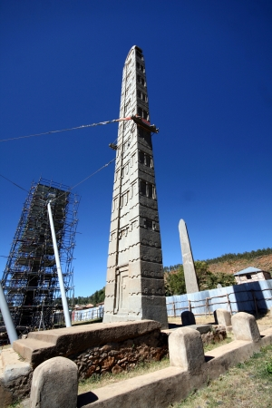 stele: Stele in the northern field at Axum in Ethiopia