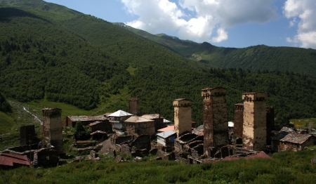 Ushguli - the highest inhabited village in Europe  Upper Svaneti  Georgia  photo