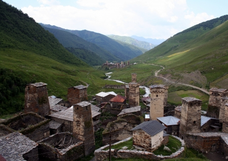 Ushguli - the highest inhabited village in Europe  Upper Svaneti  Georgia