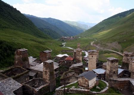 svaneti: Ushguli - the highest inhabited village in Europe  Upper Svaneti  Georgia  Editorial