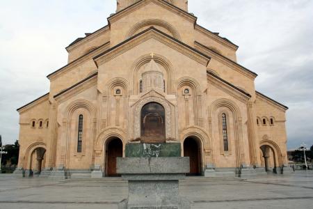 tbilisi: Tbilisi, Georgia, Cattedrale della Santissima Trinit� Archivio Fotografico
