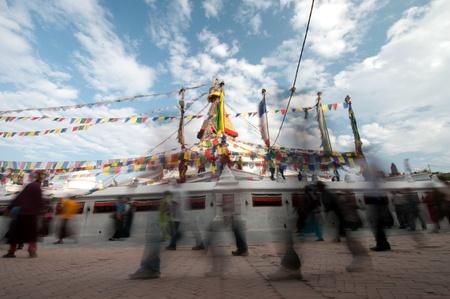 Bodhnath stuba in kathmandu nepal photo