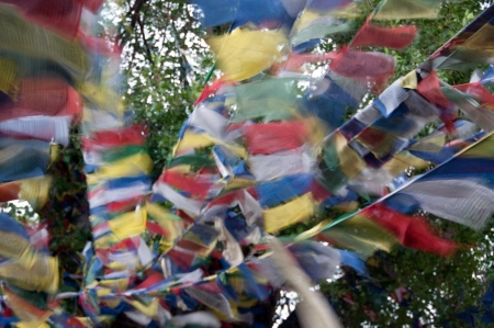 tibetan prayer flags,Nepal photo