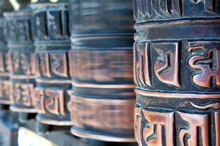 tibetian: Tibetian prayer wheels  Selective focus