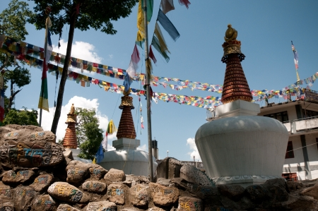 Swayambhunath  monkey temple  stupa photo