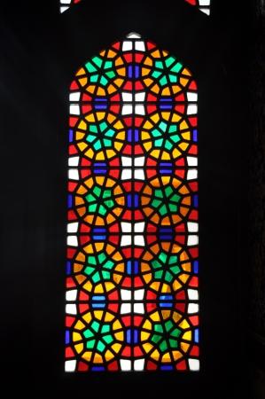 vetrate colorate: Un vecchio Vetrata di una chiesa in Iran