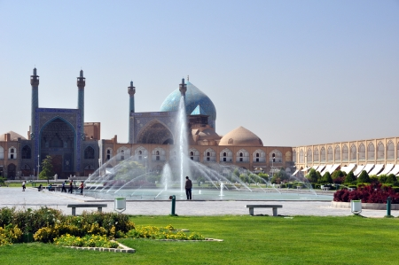 Beautiful Esfahan mosque, Iran, on Naqsh-i Jahan Square