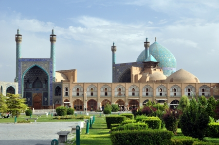 Sheikh Lotf Allah Mosque in Esfahan - Iran, Summer day photo