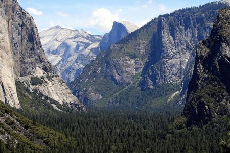 half dome: Yosemite Valley with Half Dome