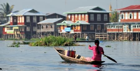 Floating village at Inle Lake, Myanmar Stock Photo - 14083312
