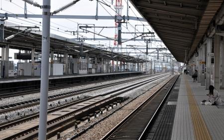 train track line in japan Stock Photo - 14084918