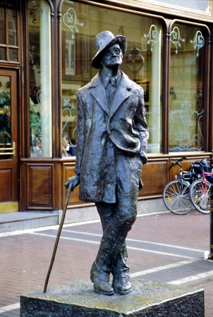 Statue of James Joyce, Dublin, County Dublin, Ireland, Eire Editorial