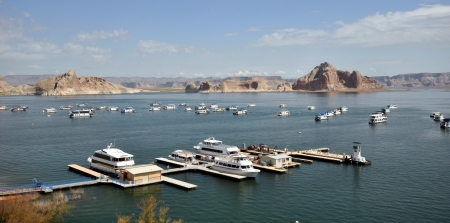 mead: Lake Mead near Hoover Dam in Nevada Editorial