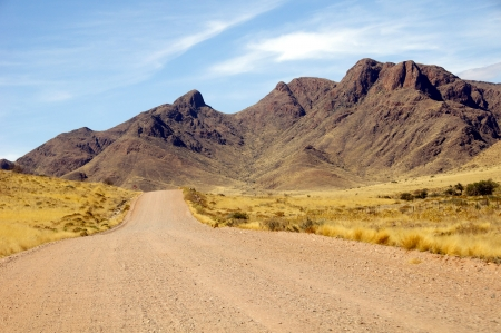 Gravel road in  Namibia photo
