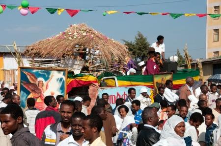 JAR MADA, ADDIS ABEBA - JAN 18  Ethiopian Orthodox celebration of Epiphany  It is celebrated on January 19 each year during the Timkat Festival  January 18, 2012 in Jar Mada, Addis Ababa, Ethiopia Stock Photo - 15056222