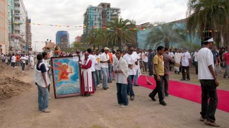 18 19: JAR MADA, ADDIS ABEBA - JAN 18  Ethiopian Orthodox celebration of Epiphany  It is celebrated on January 19 each year during the Timkat Festival  January 18, 2012 in Jar Mada, Addis Ababa, Ethiopia Editorial