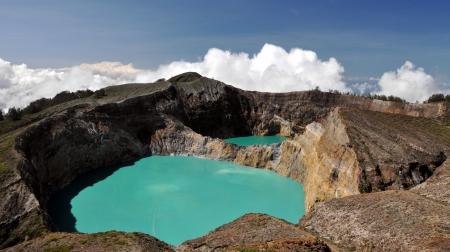 turquise: Kelimutu Volacano  Flores, Indonesia
