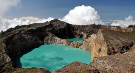 crater lake: Kelimutu Volacano  Flores, Indonesia