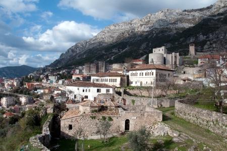 turks: El castillo es un castillo Kruje en Albania y en el centro de la batalla Skanderbeg s contra los turcos otomanos