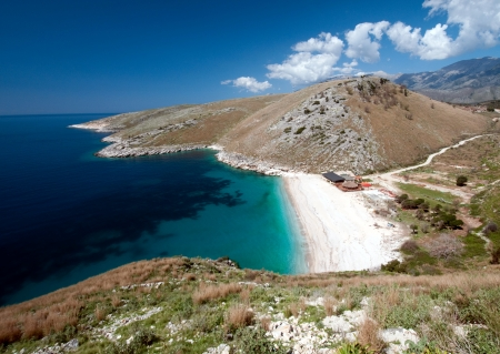 the beautiful coast of southern Albania near Himare