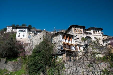 Eski köy, Arnavutluk Gjirokaster ev Osmanlı tarzı Stok Fotoğraf - 15257461