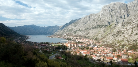 Panoramic view on Kotor, Montenegro  photo